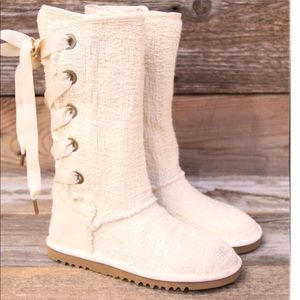 Uggs White Heirloom Laceup